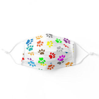Colorful Paw Dog Animals Prints Cloth Face Mask