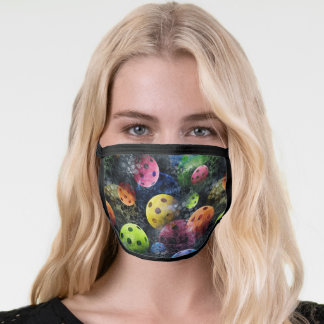 Colorful Pickleball Pattern Face Mask