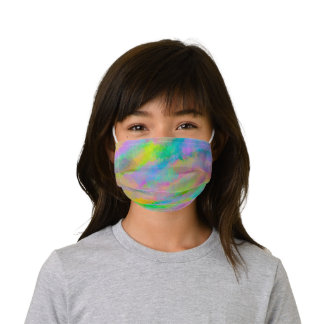 Colorful Pink Blue Yellow Rainbow Cloud Art Kids' Cloth Face Mask