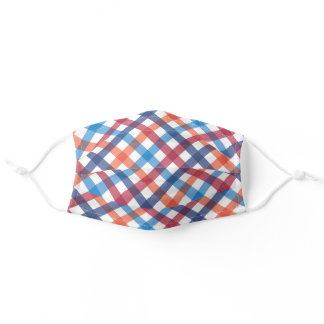 Colorful Plaid Pattern Face Mask
