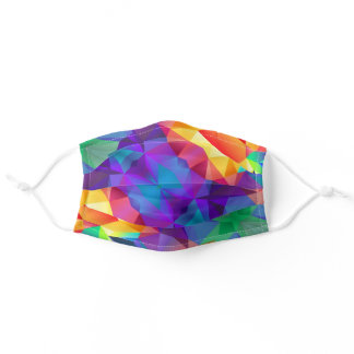 Colorful Prismatic Rainbow Fabric Washable Adult Cloth Face Mask