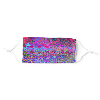 Colorful Psychedelic Rainbow Design Adult Cloth Face Mask