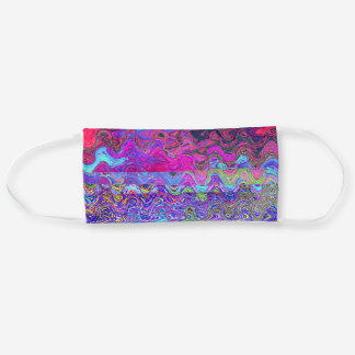 Colorful Psychedelic Rainbow Design Cloth Face Mask