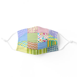 Colorful Quilters Patchwork Adult Cloth Face Mask