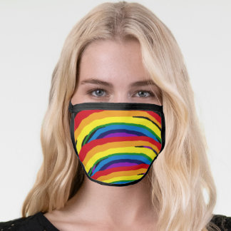 Colorful Rainbow Stripe Pattern Cotton Face Mask