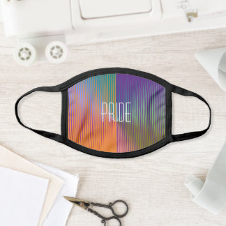 Colorful Rainbow Stripes Abstract Geometric Pride Face Mask