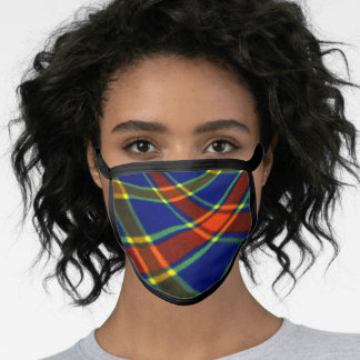 Colorful Red Blue Yellow Plaid Face Mask