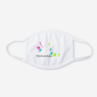 Colorful Retro 80s Paint Splatter Funny Quote Cool White Cotton Face Mask