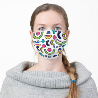 Colorful Retro Geometric Pattern Adult Cloth Face Mask