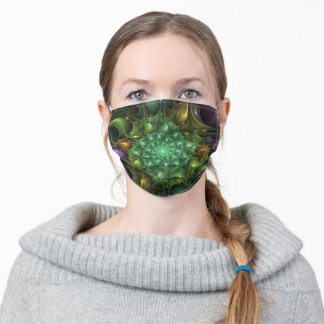 Colorful spiral - fractal impression. adult cloth face mask