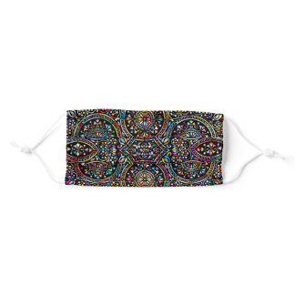 Colorful Stained Glass Geometric Pattern Design Adult Cloth Face Mask