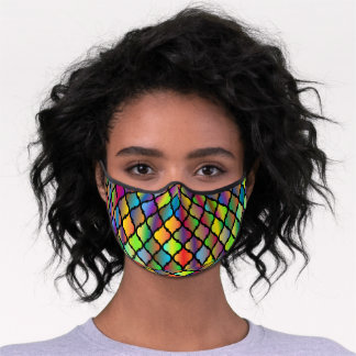 Colorful Stained Glass Premium Face Mask