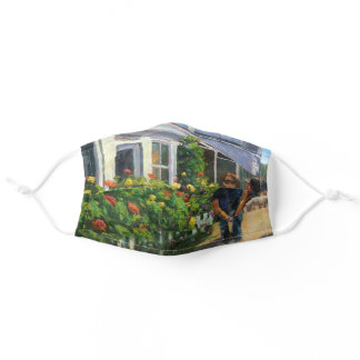 Colorful Streets of Rockport Massachusetts Adult Cloth Face Mask