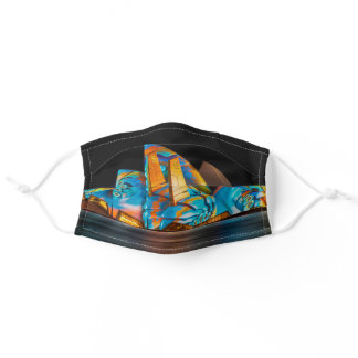 Colorful Sydney, Australia Adult Cloth Face Mask