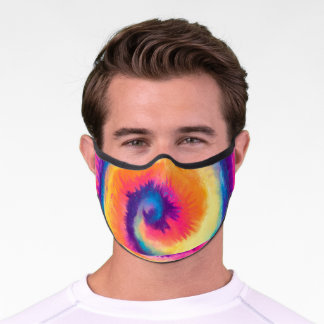 Colorful Tie Dye Pattern Personalized Premium Face Mask
