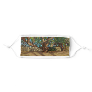 Colorful Trees in Tucson Botanical Gardens Adult Cloth Face Mask