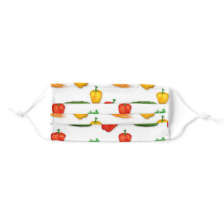 colorful vegetable collection adult cloth face mask