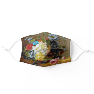 Colorful Vintage Flowers Art Painting Adult Cloth Face Mask