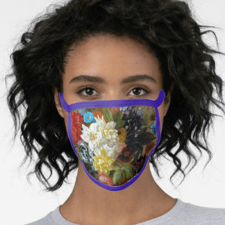 Colorful Vintage Flowers Art Painting Face Mask