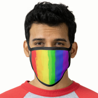 Colorful Watercolor Rainbow Stripped Face Mask
