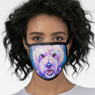 Colorful Westie Dog Face Mask