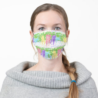 Colorful Wisteria Garden Adult Cloth Face Mask