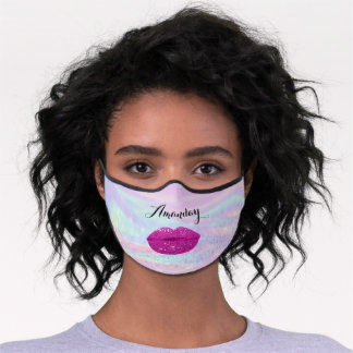 Colors To Heal Glitter Holographic Name Lips Premium Face Mask