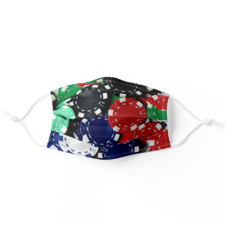 Colourful Poker Chips Gambling Pattern Adult Cloth Face Mask