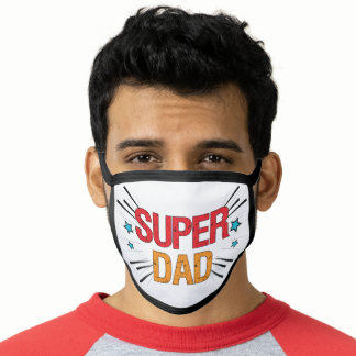 Comic Style SUPER DAD Face Mask