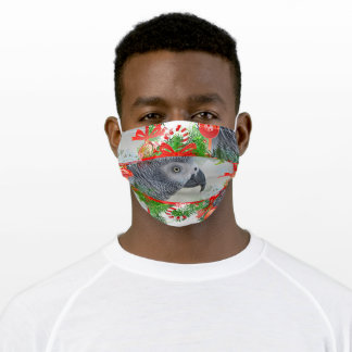 Congo African Grey Parrot Christmas Adult Cloth Face Mask