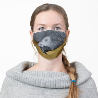 Congo African Grey Parrot Hello Adult Cloth Face Mask