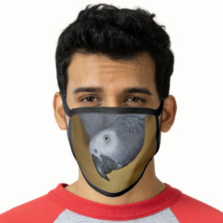 Congo African Grey Parrot Hello Face Mask