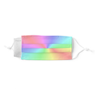 Conical Rainbow Gradient 1 Adult Cloth Face Mask