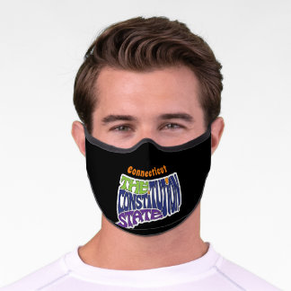 Connecticut Nickname Word Art Premium Face Mask