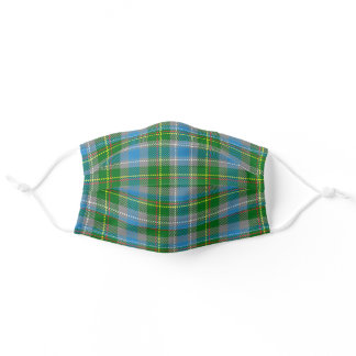 Connecticut State Clan Tartan Plaid Pattern Adult Cloth Face Mask