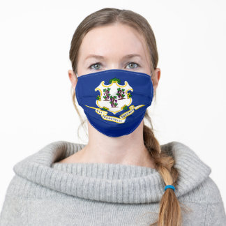 Connecticut State Flag Adult Cloth Face Mask