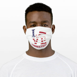Connecticut USA state love Adult Cloth Face Mask
