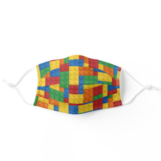 Construction Building Blocks Kids Toy Pattern Adult Cloth Face Mask