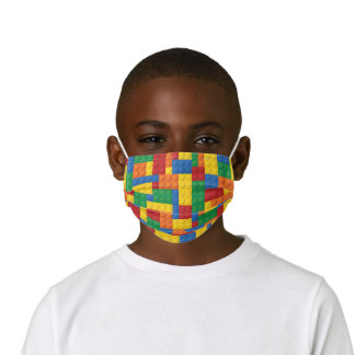 Construction Toy Building Blocks Pattern Kids' Cloth Face Mask