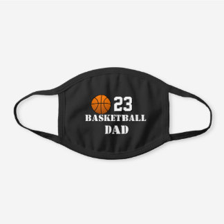 Cool Basketball Gifts, Players and Families Black Cotton Face Mask