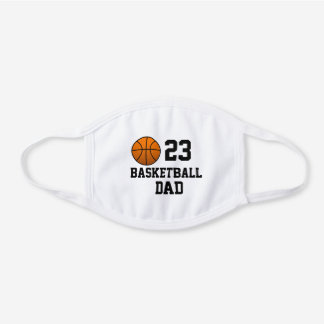 Cool Basketball Gifts, Players and Families White Cotton Face Mask