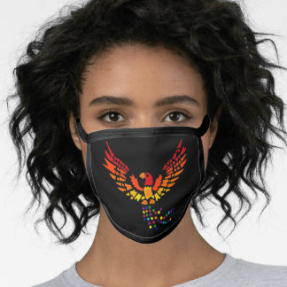 Cool Colorful Phoenix Rising Art Face Mask