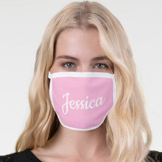 Cool Customizable Pink All-Over Print Face Mask