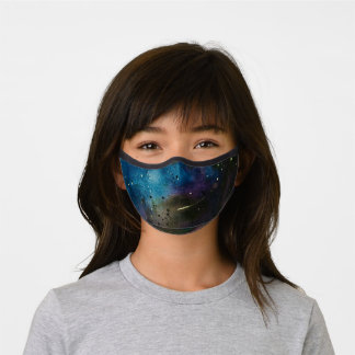 Cool Galaxy Watercolor Space Premium Face Mask