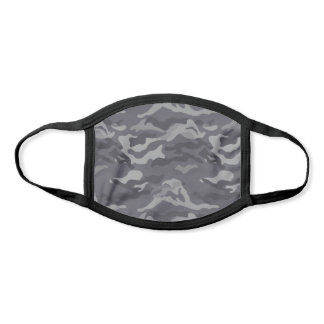 Cool Gray Camo Pattern Face Mask