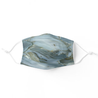 Cool Green Marble Stone Adult Cloth Face Mask