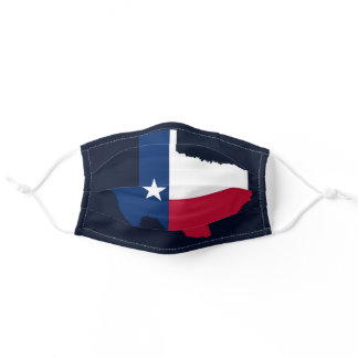 Cool Navy Blue Texas Adult Cloth Face Mask