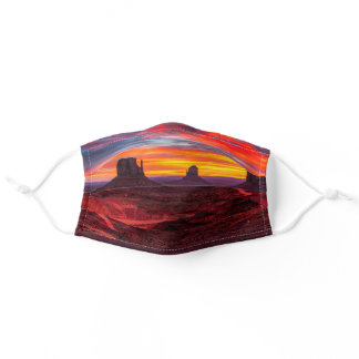 Cool New Mexico Monument Valley Red Desert Sunset Adult Cloth Face Mask
