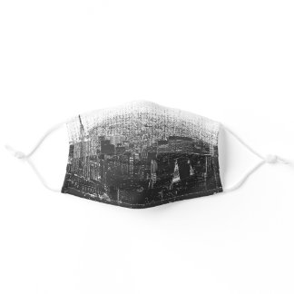 Cool New York City Skyline Adult Cloth Face Mask