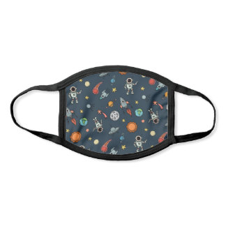 Cool Outer Space Astronauts & Planets Pattern Face Mask